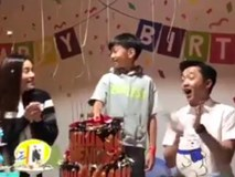 Cường Đô La và Hồ Ngọc Hà vui vẻ bên nhau tổ chức sinh nhật cho con trai