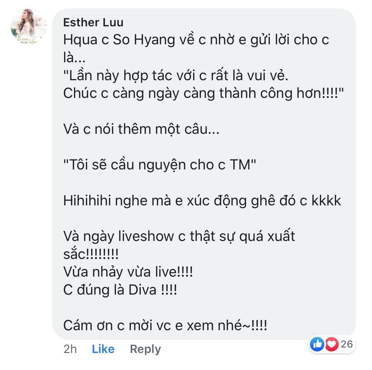 Giữa ồn ào bị Thu Minh chơi bẩn dìm hàng, Diva So Hyang nhờ Hari Won lên tiếng khiến ai cũng choáng-2