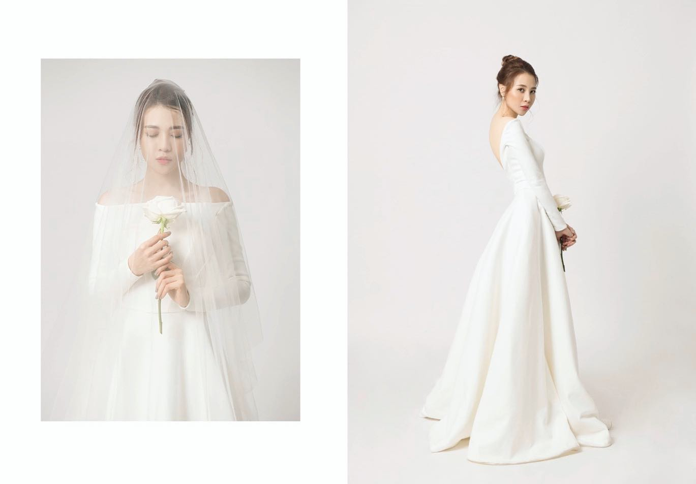 Không hổ danh Hoa khôi, Đàm Thu Trang tung ảnh cưới đơn giản nhưng vẫn xinh đẹp yêu kiều hết phần thiên hạ-2