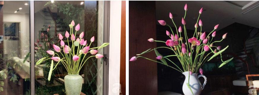 Níu giữ hương mùa hạ với những bình hoa sen đẹp dịu dàng trong tổ ấm của 3 người phụ nữ đảm ở Hà Nội-8