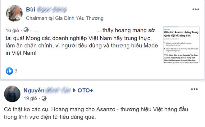 """Người tiêu dùng nói gì trước tin Asanzo bị tố"""" hàng Trung Quốc đội lốt hàng Việt?-2"""