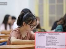 Lộ đề thi Ngữ Văn: Một nam sinh chụp ảnh đăng lên Facebook khi đang còn ngồi trong phòng thi