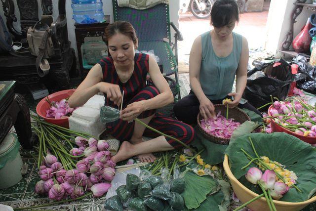 Thiên cổ đệ nhất trà sen của cụ bà U100 Hà Nội, giá 7 triệu đồng/kg-9