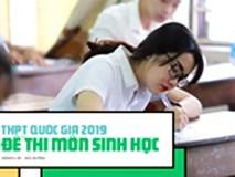 Đề thi môn Sinh học THPT quốc gia 2019