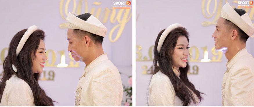 Bùi Tiến Dũng và cô dâu Khánh Linh hôn nhau say đắm, hát Nắm Lấy Tay Anh cực ngọt ngào-20