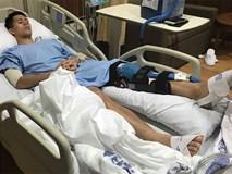 Những hình ảnh đầu tiên của Đình Trọng sau phẫu thuật đứt dây chằng khiến fan không khỏi xót xa