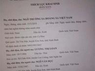 Xôn xao cặp vợ chồng xứ Nghệ đặt tên con là 'Trường Sa Hoàng Sa Việt Nam'