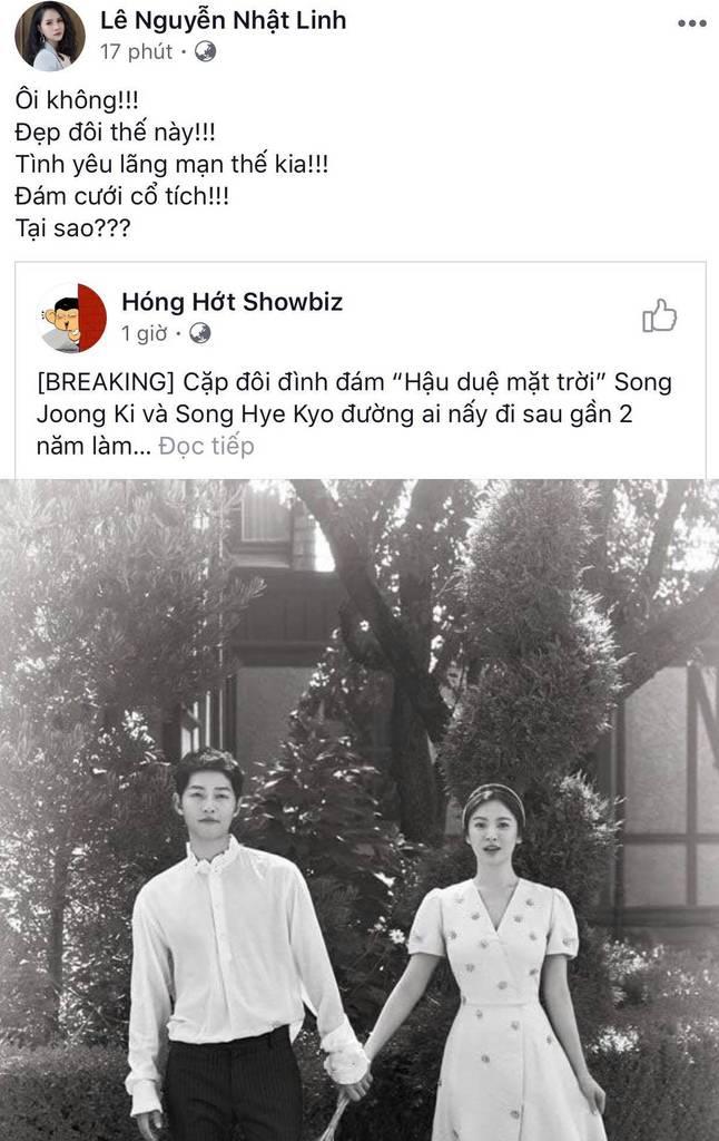 Dân mạng Việt sốc trước tin Song - Song ly hôn: Động lực để yêu và cưới của tôi tan tành rồi!-3