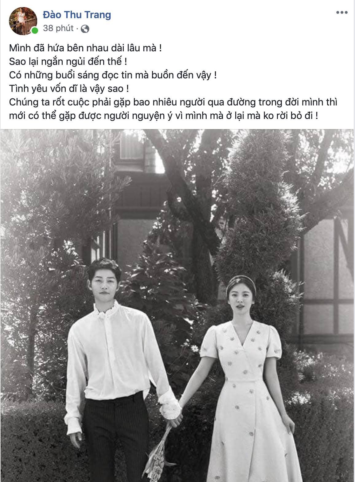 Dân mạng Việt sốc trước tin Song - Song ly hôn: Động lực để yêu và cưới của tôi tan tành rồi!-7