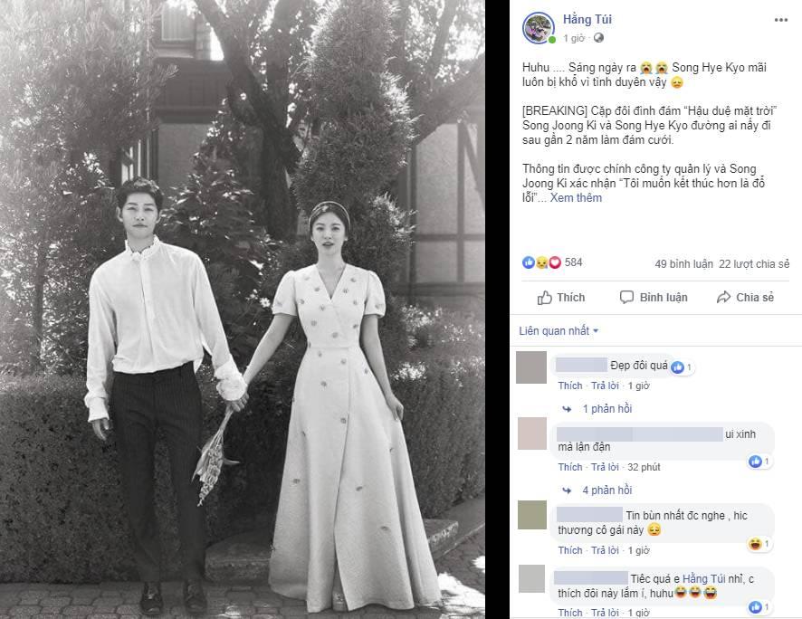 Cặp đôi cổ tích Song Joong Ki - Song Hye Kyo ly hôn, team bỉm sữa đau lòng, mẹ 4 con Hằng Túi cũng tiếc vật vã-2