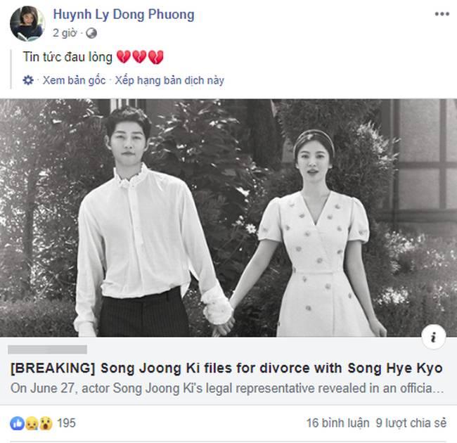 Cặp đôi cổ tích Song Joong Ki - Song Hye Kyo ly hôn, team bỉm sữa đau lòng, mẹ 4 con Hằng Túi cũng tiếc vật vã-3