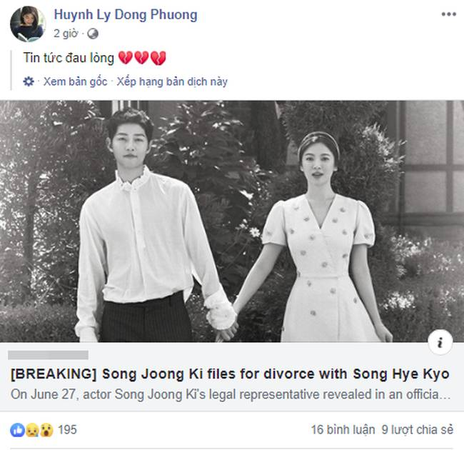 Cặp đôi cổ tích Song Joong Ki - Song Hye Kyo ly hôn, team bỉm sữa đau lòng, mẹ 4 con Hằng Túi cũng tiếc vật vã-6