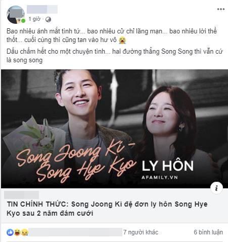Cặp đôi cổ tích Song Joong Ki - Song Hye Kyo ly hôn, team bỉm sữa đau lòng, mẹ 4 con Hằng Túi cũng tiếc vật vã-7