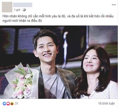 Cặp đôi cổ tích Song Joong Ki - Song Hye Kyo ly hôn, team bỉm sữa đau lòng, mẹ 4 con Hằng Túi cũng tiếc vật vã-10