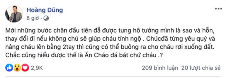 """Thu Quỳnh chính thức lên tiếng sau khi bị cho là ăn cháo đá bát"""", tiết lộ đoạn hội thoại với Hoàng Dũng giữa tâm bão-1"""