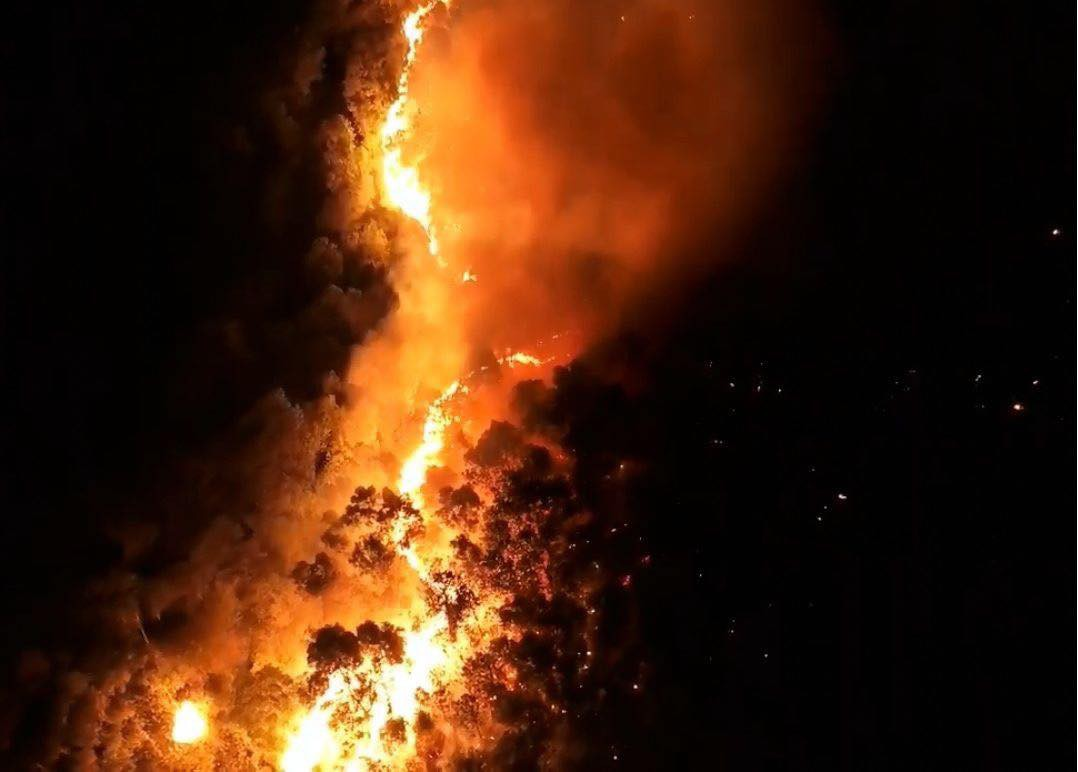 Cháy rừng ở Hà Tĩnh đe doạ nhiều nhà dân, hàng trăm người nỗ lực dập lửa gần 10 tiếng đồng hồ-2