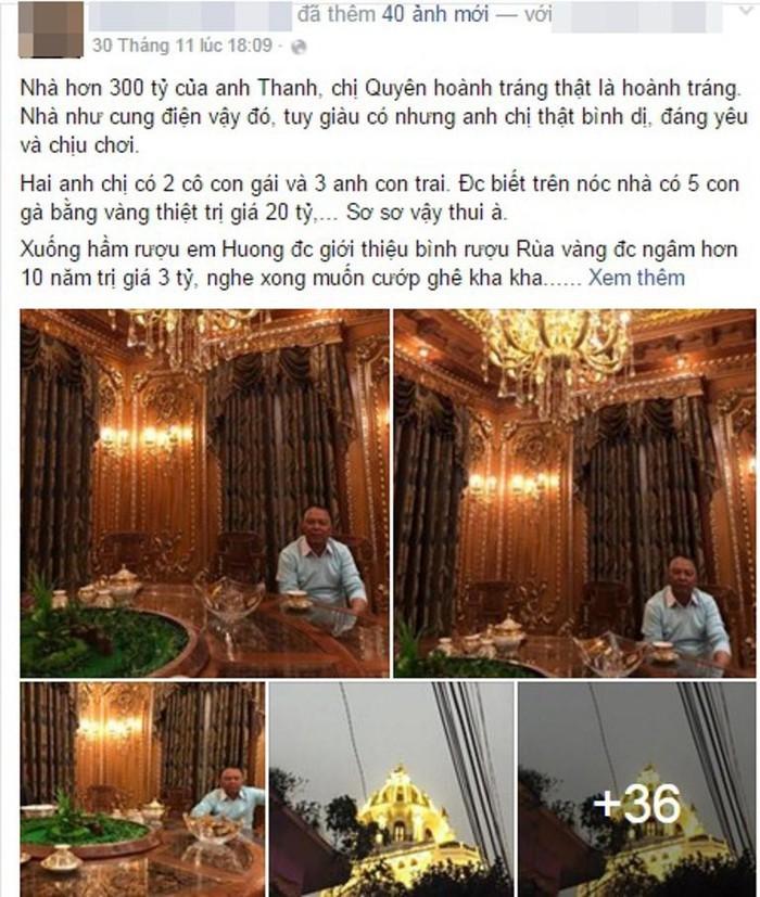 Cận cảnh căn biệt thự 300 tỷ dát vàng ở Hà Nội-1