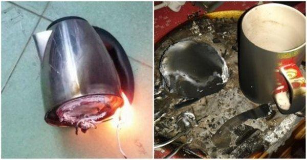 6 sai lầm khi sử dụng ấm siêu tốc khiến ổ điện nổ tung, gây nguy hại-1