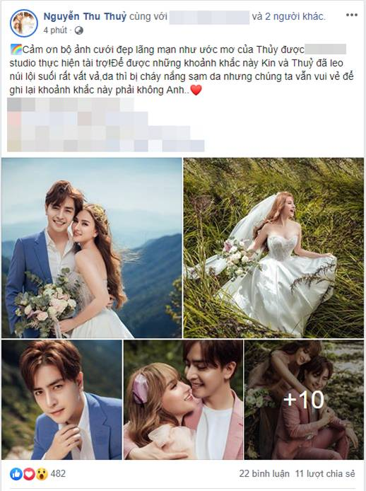 Khẳng định không cưới chạy bầu, ảnh cưới của Thu Thủy vẫn tiếp tục khiến dân mạng hoài nghi khi nhìn đến vòng 2-1