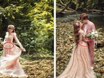 Khẳng định không cưới chạy bầu, ảnh cưới của Thu Thủy vẫn tiếp tục khiến dân mạng hoài nghi khi nhìn đến vòng 2