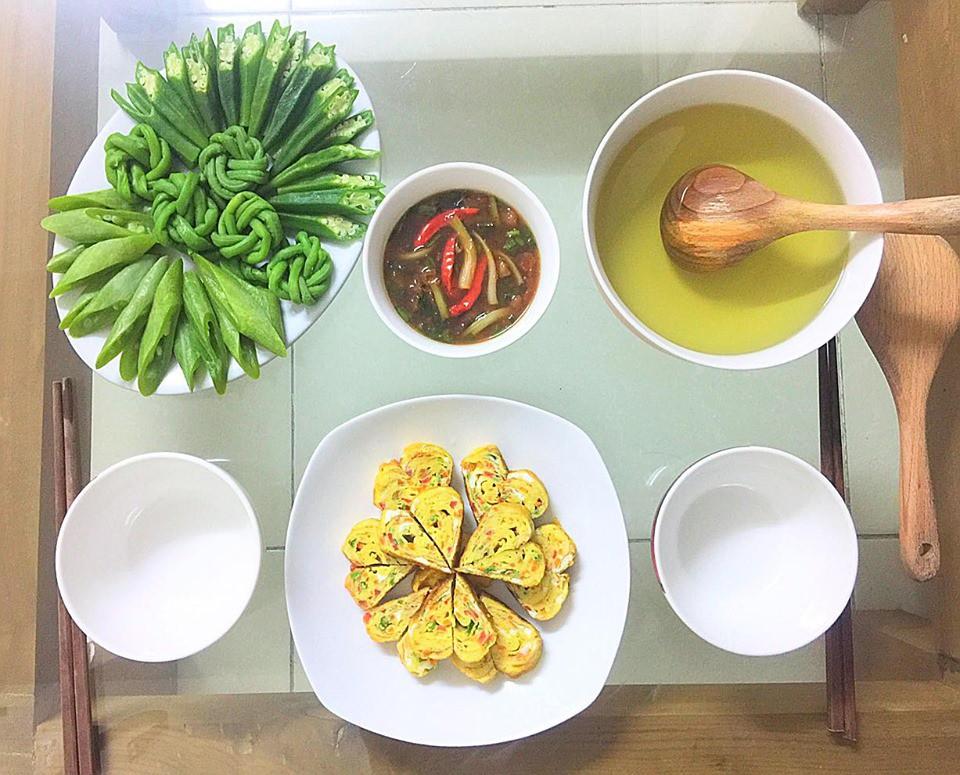 9x Hà Nội khiến MXH phát sốt vì 30 mâm cơm đẹp xuất sắc, chỉn chu đến từng cọng rau miếng thịt-19