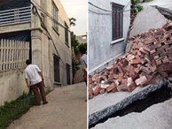 """Di dời 3 hộ dân quanh hố tử thần """"nuốt"""" ngôi nhà 2 tầng ở Hà Nội"""