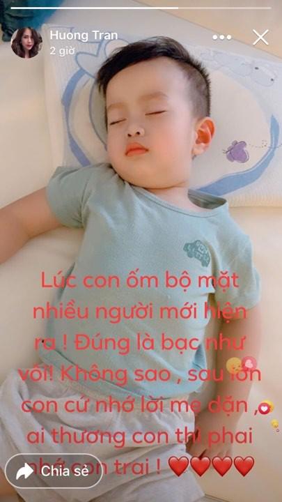 Bất lực một mình chăm con ốm đau, vợ cũ Việt Anh tâm sự: Nhiều người đúng là bạc như vôi!-1