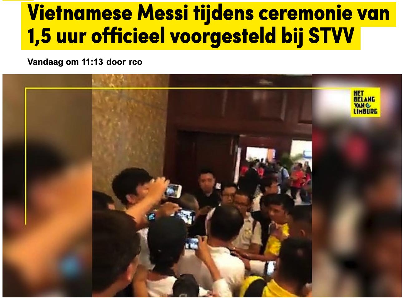 Công Phượng có biệt danh mới khi sang châu Âu, báo Bỉ ngạc nhiên khi lễ ra mắt dài ngang một trận bóng-1
