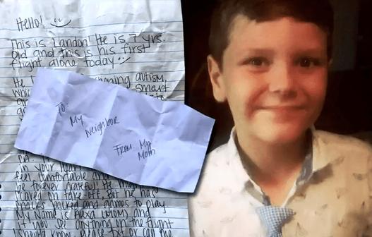 Lo con trai tự kỷ đi máy bay 1 mình, mẹ đưa tờ giấy nhắn với 10 đô la rồi nhận về kết quả không thể ngọt ngào hơn-2
