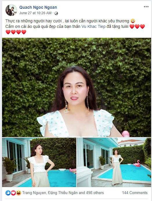 Nghi vấn thú vị, Phượng Chanel dùng tài khoản facebook của Quách Ngọc Ngoan để tự khen mình thời trang-2