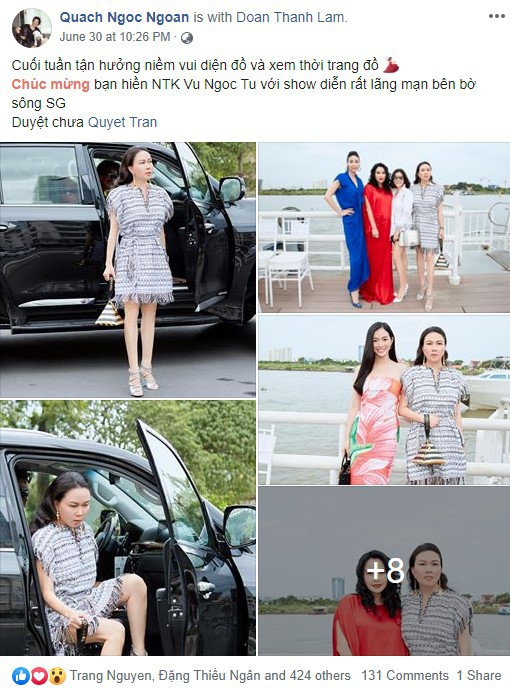Nghi vấn thú vị, Phượng Chanel dùng tài khoản facebook của Quách Ngọc Ngoan để tự khen mình thời trang-5
