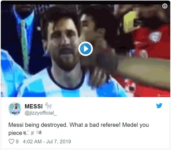 Cộng đồng mạng bất bình, phẫn nộ khi chứng kiến Messi phải nhận chiếc thẻ đỏ gây tranh cãi-3