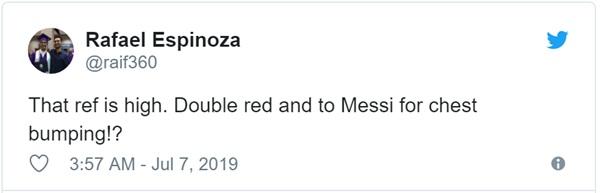 Cộng đồng mạng bất bình, phẫn nộ khi chứng kiến Messi phải nhận chiếc thẻ đỏ gây tranh cãi-4