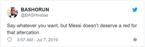 Cộng đồng mạng bất bình, phẫn nộ khi chứng kiến Messi phải nhận chiếc thẻ đỏ gây tranh cãi-5