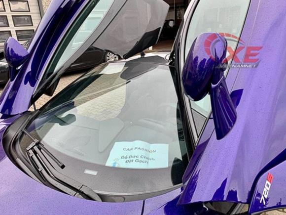 Đại gia Vũng Tàu đặt gạch siêu xe McLaren 26 tỷ đồng màu tím độc-2