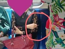Người phụ nữ cầm tăm nhọn để ngăn bé trai dựa vào mình trên xe buýt gây tranh cãi