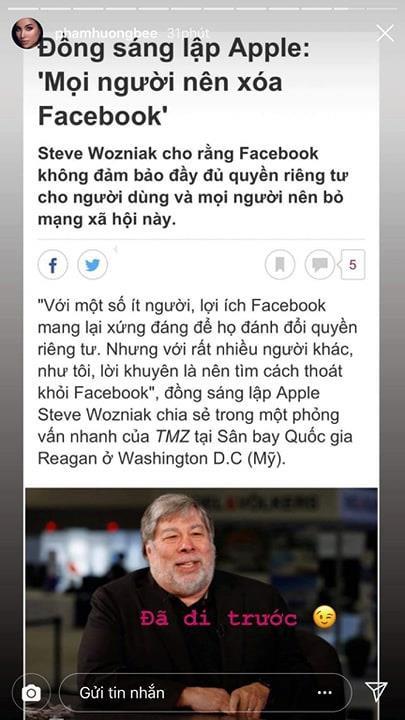 Sau khi bị chỉ trích vì dòng trạng thái nửa Tây nửa ta, Phạm Hương lại kêu gọi cư dân mạng hãy xóa Facebook?-1