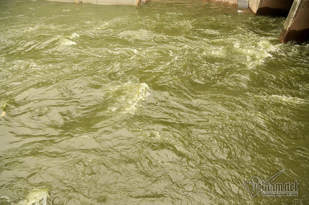 Triệu khối nước cuồn cuộn đổ vào, sông Tô Lịch biến sắc-8
