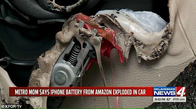 iPhone đặt trong ô tô bất ngờ phát nổ khiến nội thất xe bị bốc cháy-2
