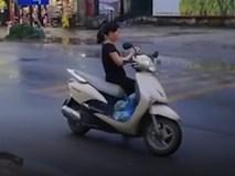 Clip: Nữ 'ninja' dựng xe giữa đường quốc lộ để sử dụng điện thoại khiến dân mạng chào thua