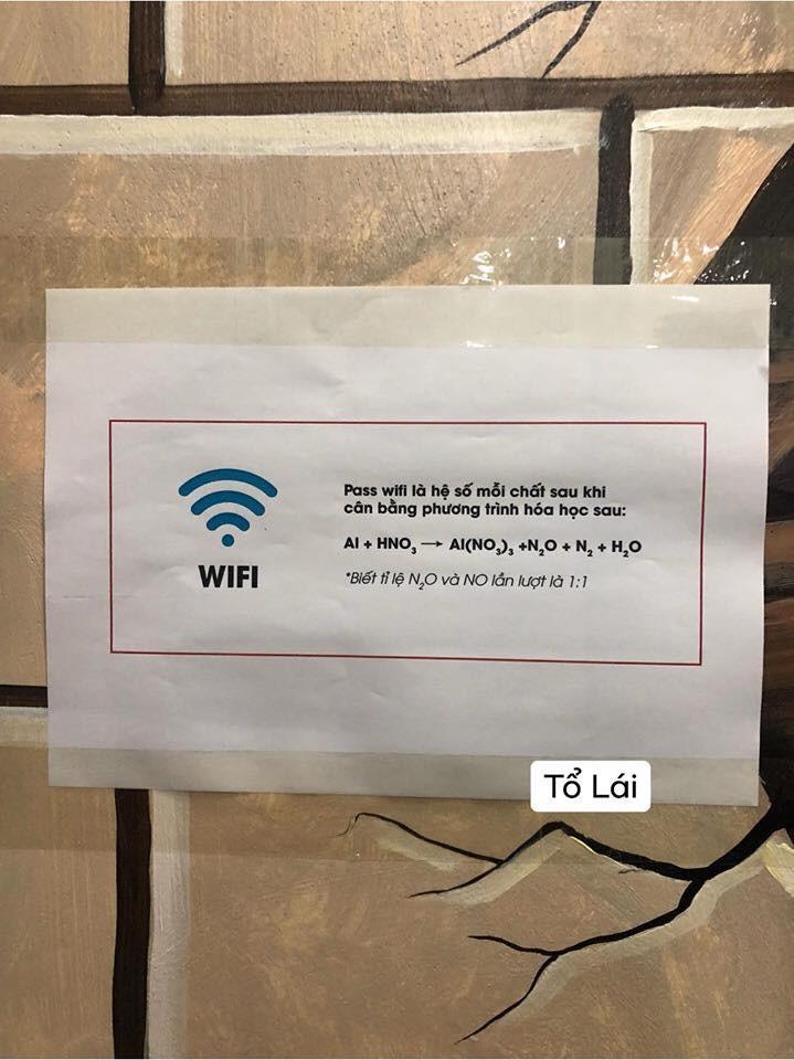 Yêu cầu cân bằng phương trình hoá học mới có pass wifi, dân mạng đồng loạt than thở: Bây giờ mới thấy tầm quan trọng của môn Hoá!-1