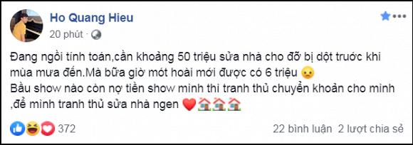 Giữa tin đồn sắp làm đám cưới với Bảo Anh, Hồ Quang Hiếu tiết lộ sắp sửa nhà và dành cả thanh xuân để đi đòi nợ-1