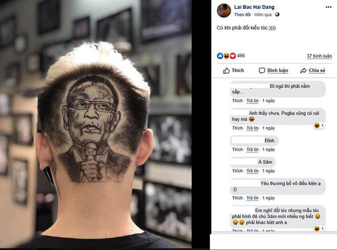 MC Lại Văn Sâm được fan xăm hình trên đầu và phản ứng của con trai-1