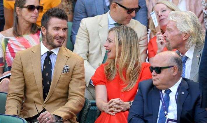 David Beckham ở tuổi 44 vẫn đẹp trai lãng tử, khí chất ngút trời, làm sáng rực một góc khán đài Hoàng gia-9