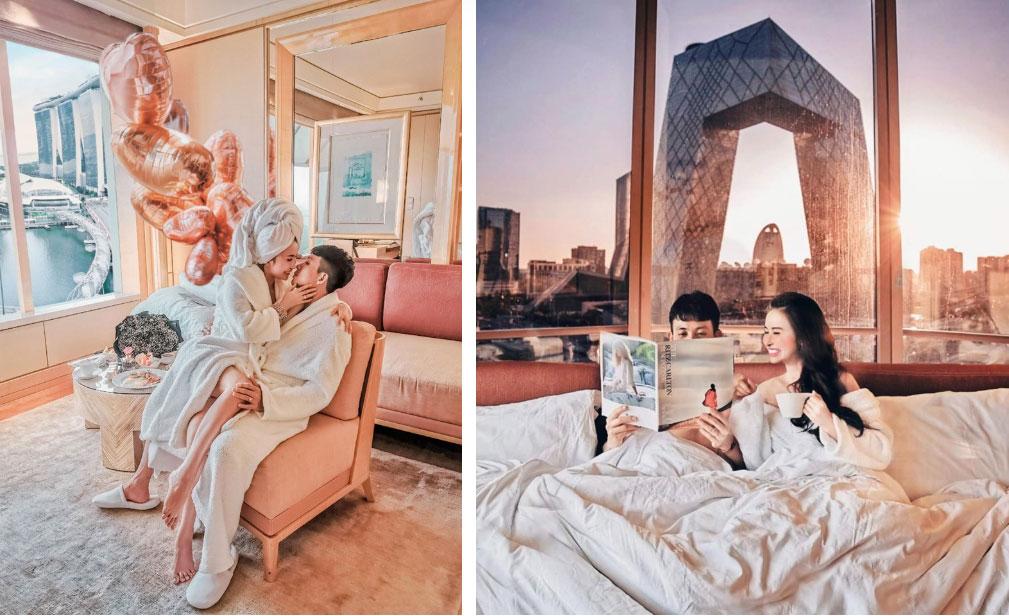 Đại gia Minh Nhựa ôm eo vợ, tổ chức kỷ niệm cầu hôn bằng buổi tiệc hoành tráng, cùng chuyến du lịch siêu sang-3