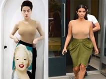 """Khi Hà Hồ diện bodysuit """"đụng độ"""" Kim Kardashian, ai hơn ai?"""
