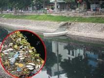 Sông Tô Lịch lại đen kịt, ô nhiễm nặng nề khiến cá chết trắng bụng sau khi bất ngờ trong xanh được vài ngày