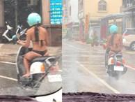 Mặc bikini bé xíu rồi lái xe máy giữa trời mưa, cô gái khiến dân tình 'nóng mắt'