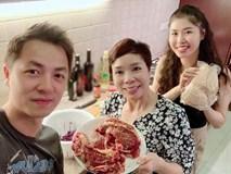 Vợ xinh của Đăng Khôi đi du lịch vẫn vào bếp làm món