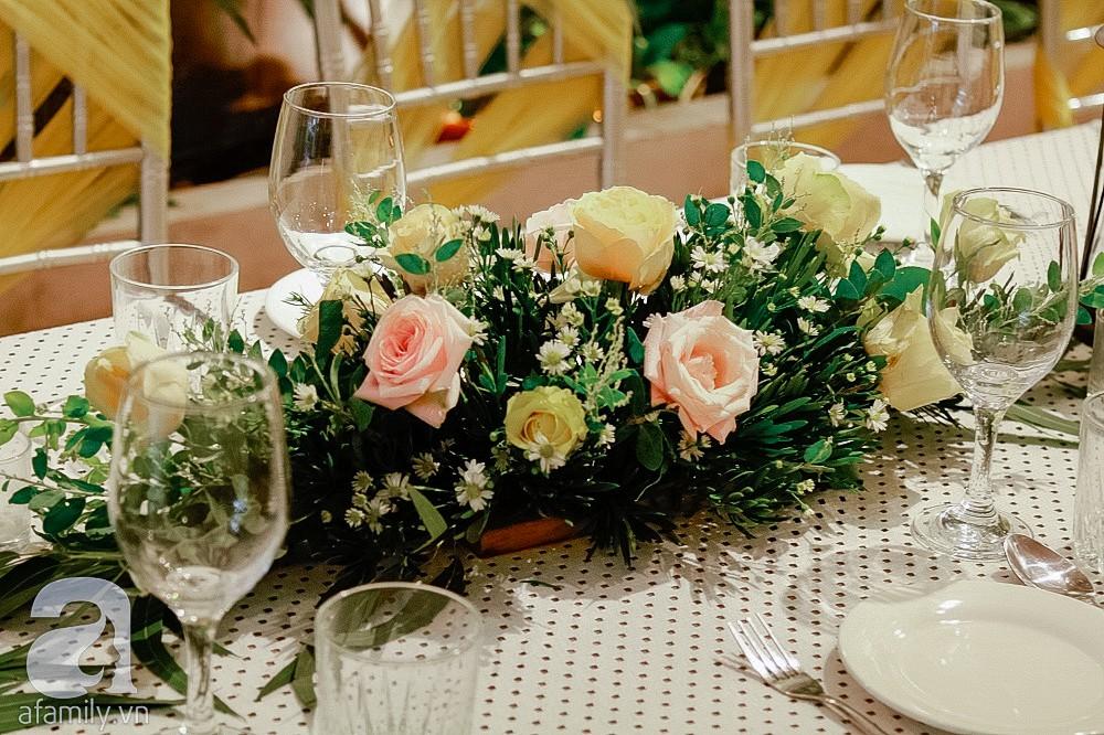 Cận cảnh không gian hôn lễ ngọt ngào, ấm cúng của Thu Thủy và chồng điển trai-4